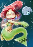 Copic Mermaid by hinoraito