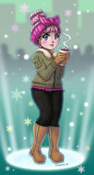 Cozy Babe drinking warm drink - LOL Surprise Doll by hinoraito