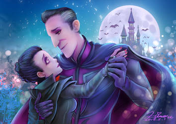 Dracula and Emma by HiroUsuda