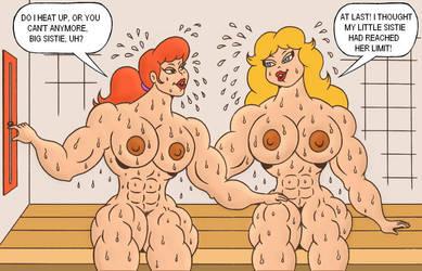 HardieGals in the Sauna by loenror