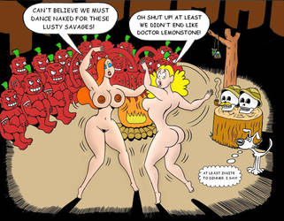 Palomita and Jessica dancing for cannibals by loenror