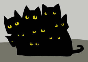 Pile of Black Cats by ParaAbduction51