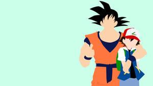 Ash and Goku from Pokemon and Dragon Ball by matsumayu