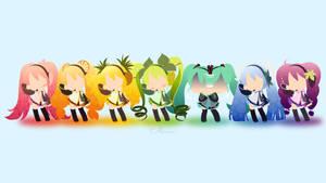 Rainbow Miku by matsumayu
