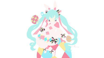 Happy Easter! Miku Hatsune from Vocaloid by matsumayu