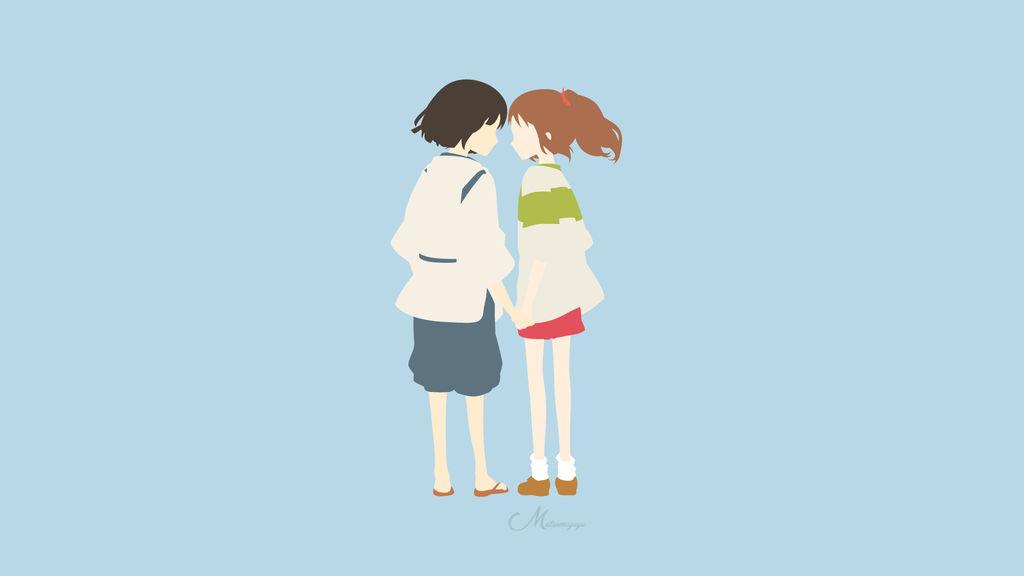 Chihiro and Haku from Spirited Away by matsumayu