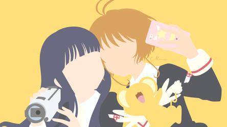 Tomoyo and Sakura from Cardcaptor Sakura Clear by matsumayu