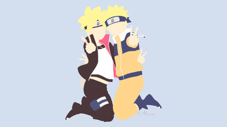 Boruto and Naruto by matsumayu
