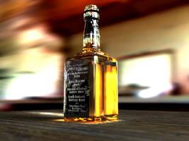 3D Whiskey Bottle by kwills84