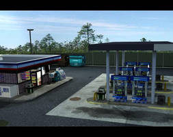 3D Gas Station by kwills84