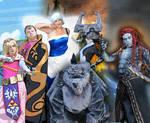 ZeldaGroup from Animazement 2013 WIP by kwills84