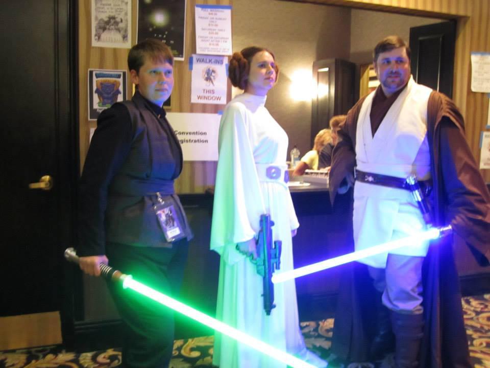 Luke, Leia and Obi-Wan by kwills84