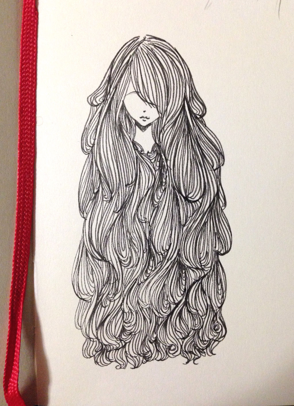 Hair Doodle by CrystalShadow35