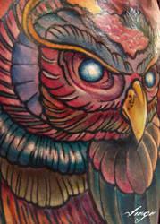 Zombie Owl Detail Shot by IamValo