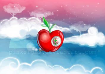 Manzana voladora by pinksighs