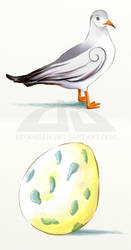Huevo azul by pinksighs