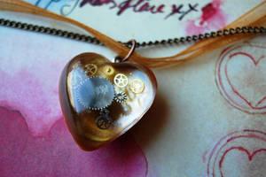 Steampunk Clockwork Necklace by OcularFracture