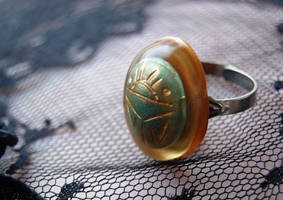 Scarab Beetle Ring by OcularFracture