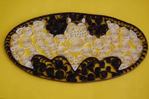 Paper Filigree Batman Logo by OcularFracture
