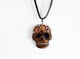 Steampunk Clockwork Skull by OcularFracture