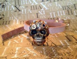 Steampunk Skull Choker by OcularFracture