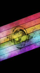 Rainbow Alien Cell Phone Background by OcularFracture