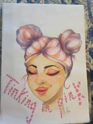Thinking in Pink  by Arasdreams