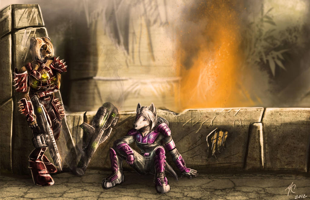 Commission: Battle's End by JoeCool42