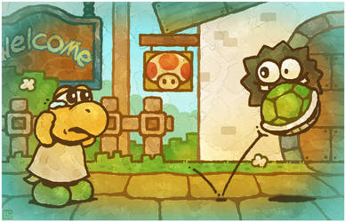 Paper Mario 64: Watch Your Overalls by Louivi