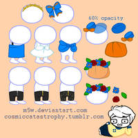 homestuck sprite resource: misc clothes and hats by m5w