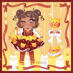 candy jarr: chocolate gummy bear macaron by m5w
