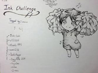 Ink Challenge - Chibi Eren by michaneki