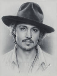 Johnny Depp portrait by Drawing-Portraits