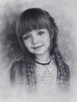 Drawing of young and beautiful Anastasia Knyazeva by Drawing-Portraits