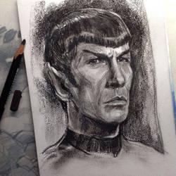 Spock (sketch 5) by Ognivik