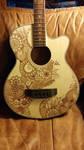 Bass Guitar - Hand drawn henna style design by jlynch2000