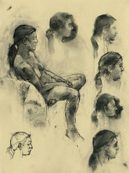 Life Drawing 2012: 01 by napoleoman