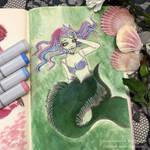 Mermaid sketch by yamiko-michi