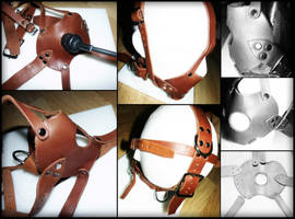 Veg Tan Facehugger Harness Gag - Insex style by jay2u