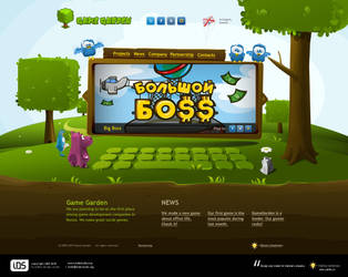GameGarden site by indestudio