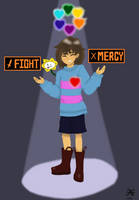 Which to Pick? [Undertale fan art] by Steam-Powered-Hippie