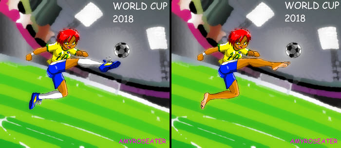 WORLD CUP 2018 - Soccer Amy Feet Soles by amyroseater