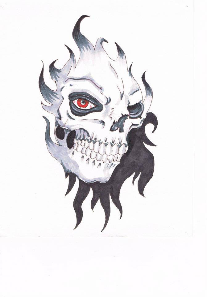 Skull flash art by unrested