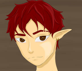 Red haired boy by SaiyanGirl01