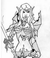 Elvish Spear Maiden by BasicRowan