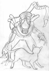 Alien and Jonesie by BasicRowan