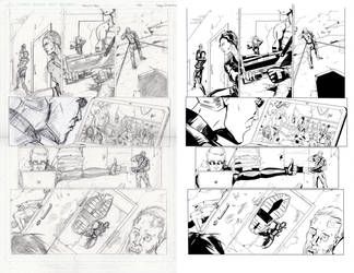 Titanium comics sample (pencil/inks) by LucasDuimstra