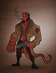 Hellboy - Serious Business by ryanm007