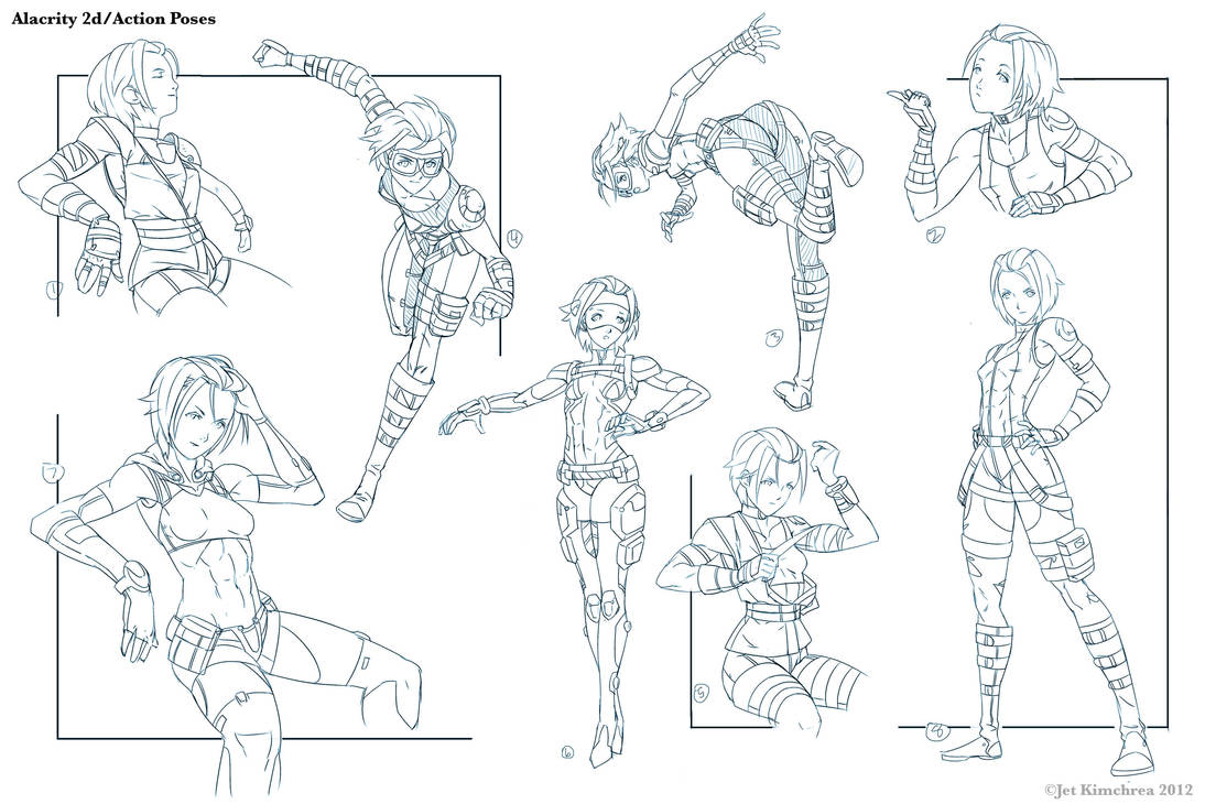 Alacrity Action Poses 2 by THEJETTYJETSHOW