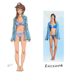 The Girl in Blue Plaid by THEJETTYJETSHOW